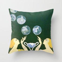"1920's Art Deco Design ""Bubbles"" Throw Pillow"