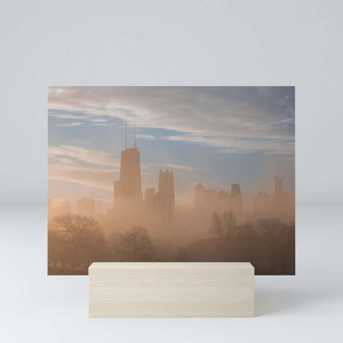 Moody Morning in Chicago Mini Art Print