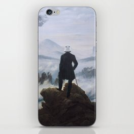 "Homage to Caspar David Freidrich, ""Trooping above the Sea of Fog"" iPhone Skin"
