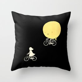 The moon and me Throw Pillow