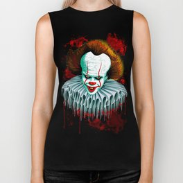 The Dancing Clown - Pennywise IT - Vector - Stephen King Character Biker Tank