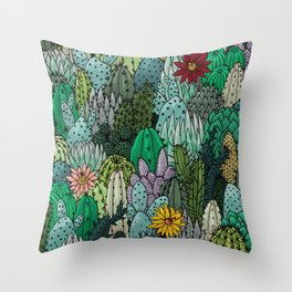 Cactus Collection Throw Pillow