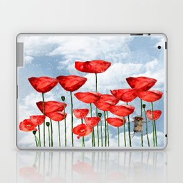 Mouse and poppies on a cloudy day Laptop & iPad Skin