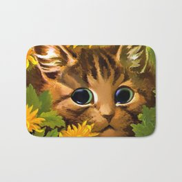 """Louis Wain's Cats """"Tabby in the Marigolds"""" Bath Mat"""