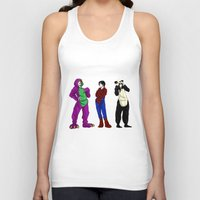 scary Tank Tops featuring Scary by Rabiscos e Tal