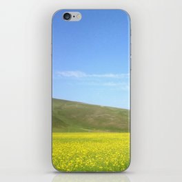 yellow flower field iPhone Skin