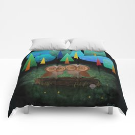 Owl Pals In The Forest Comforters