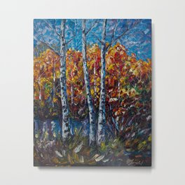 The River Song (Palette Knife Metal Print
