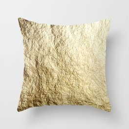 Crinkled Gold Throw Pillow