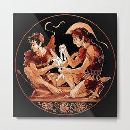 Achilles & Patroclus red figure Metal Print