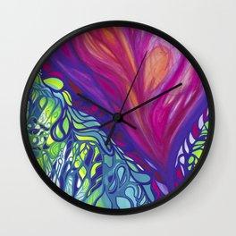 Soulful colors Wall Clock