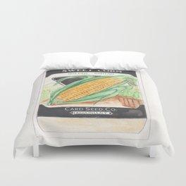 Sweet Corn Seed Packet Duvet Cover