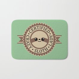 Certified Crazy Sloth Lady Bath Mat