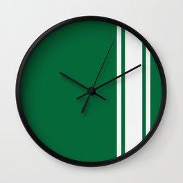 Green Racer Wall Clock