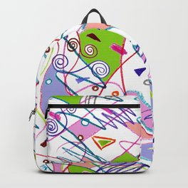 Abstract path shapes Backpack
