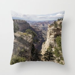 A Vertical View - Grand Canyon Throw Pillow