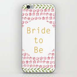 Bride to be! - wedding watercolour pattern typography iPhone Skin