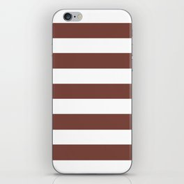 Bole - solid color - white stripes pattern iPhone Skin
