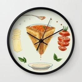 Grilled Cheese Mandala Wall Clock