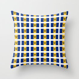 flag of Barbade-barbade,bajan,Barbadian,Bridgetown,barbados. Throw Pillow
