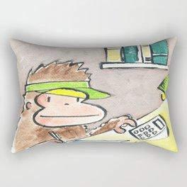 Accountant Ape Rectangular Pillow