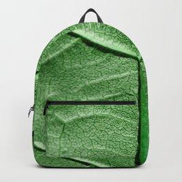 Veined Green Leaf Backpack