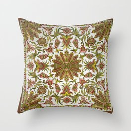 18th Century Embroidery Throw Pillow