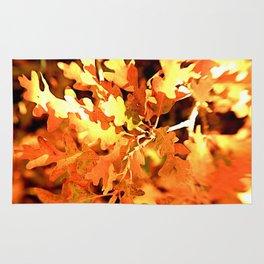 Fiery Oak Leaves Rug