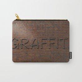 Anti Graffiti 3D Brick Wall Carry-All Pouch