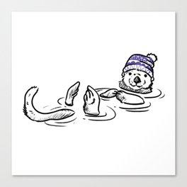 An Otter Coffee Please Canvas Print