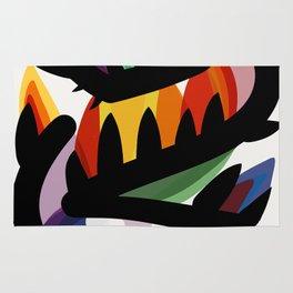 Depemiro Abstract Colorful Art Rug