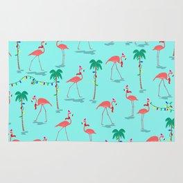 Christmas Flamingo Pattern Rug