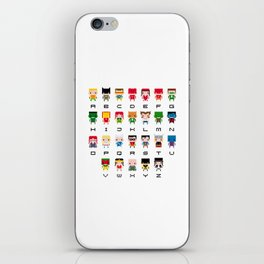 Superhero Alphabet iPhone Skin