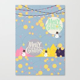 #Merry&Bright4 Canvas Print