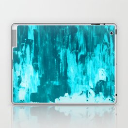 Bright Blue Snow Nights with Icicles Laptop & iPad Skin