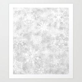 Snowflake Snowstorm Art Print