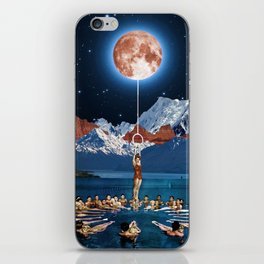 Hanging from the moon iPhone Skin