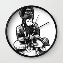 Hanuman Yoga Wall Clock