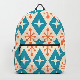 Mid Century Modern Atomic Triangle Pattern 107 Backpack