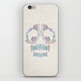Aurora Quartz Skull iPhone Skin