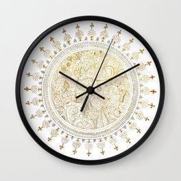 Mandala Justyoga Wall Clock