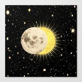 'Imminent Eclipse' Sun Moon & Stars Canvas Print