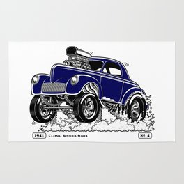 1941 WILLYS Classic Rodder - Blue Rug