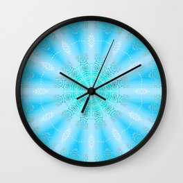 Let the Sun Shine Mandala (tropical blues) Wall Clock