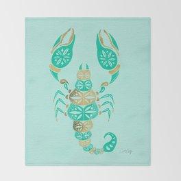 Scorpion – Turquoise & Gold Throw Blanket