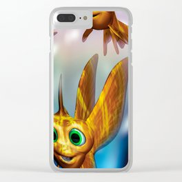 Three little fishies and a mama fishie too Clear iPhone Case