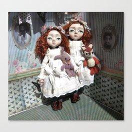Freya and Faye, Curious Creatures Canvas Print