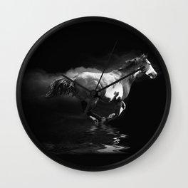 Galloping Pinto Horse Wall Clock