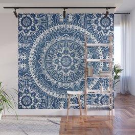 Blue Mandala Pattern Wall Mural
