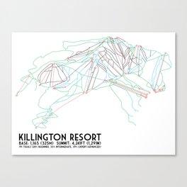Killington, VT - Minimalist Trail Art Canvas Print